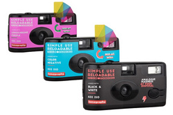 Lomography Simple Use Film Camera 3-bundle (CN400/BW400/PURPLE)